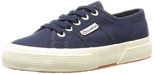 Superga 2750-JCOT CLASSIC - Zapatillas de algodón infantil, Azul Marino, 32