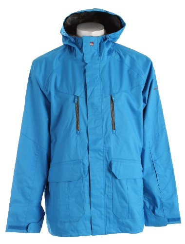 Quiksilver Piranha Shell Ski Snowboard Jacket Azul Blue Mens Sz L