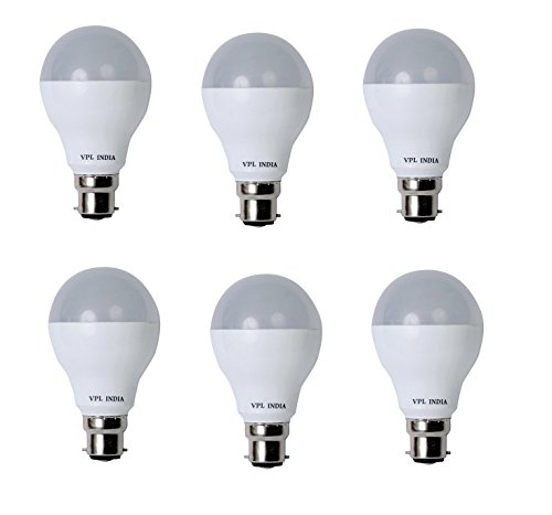 9 Watt LED Bulb (White, Pack of 6)