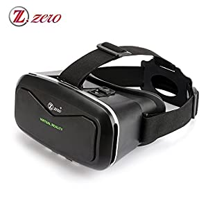 ZZERO 3D VR Virtual Reality Headset Glasses for 3D Video Movies and Games,Compare with Samsung Gear VR,Google Cardboard,for iPhone 6 6 Plus 5S 5C 5 Samsung Galaxy and Smartphones