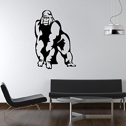 de-pie-animal-gorila-etiqueta-de-la-pared-tatuajes-de-pared-arte-disponible-en-5-tamanos-y-25-colore