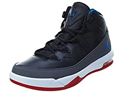 Nike Jordan Mens Jordan Air Deluxe Bg Black/Soar/Dark Grey/White Basketball Shoe 11 Men US