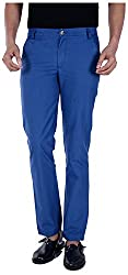 S9 Men's Slim Fit Casual Trousers (S9-M-CHINO-3_34, Blue, 34)