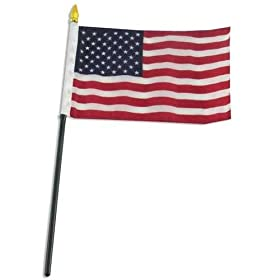 4in x 6in USA stick flag Best Quality