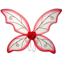 Large Red Wild Fairy Wings (34 in)
