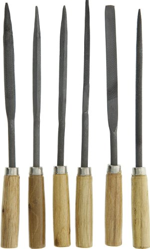 SE 7296NFW Assorted File Set with Wooden Handle, 6-Piece