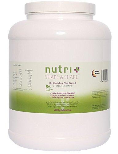 SPECIAL EDITION - Nutri-Plus Shape & Shake Lebkuchen Vegan 2kg - Ohne Aspartam, Laktose und Milcheiweiß - Limited Edition