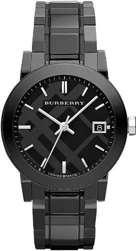 Burberry BU9181 34mm Ceramic Case Black Ceramic Anti-Reflective Sapphire Men's Watch