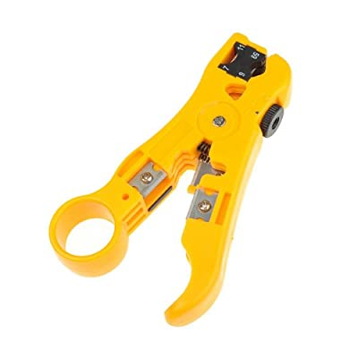 BestDealUSA Coaxial Cable Stripper Coax Stripping Hand Tool for RG59/6/7/11 CAT 5E CAT 6