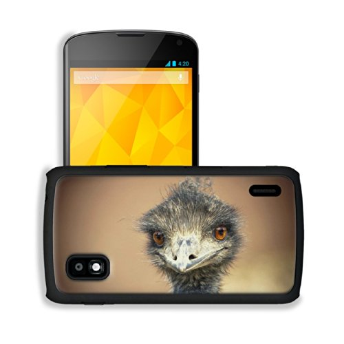 Australia Emu Bird Wildlife Ostrich Google Nexus 4 Mako Snap Cover Case Premium Leather Customized Made To Order Support Ready 5 3/16 Inch (132Mm) X 2 13/16 Inch (72Mm) X 4/8 Inch (12Mm) Luxlady Nexus_4 Professional Cases Touch Accessories Graphic Covers
