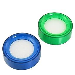 uxcell Blue Green Fingertip Moistener for Counting Cash Money 2 pcs