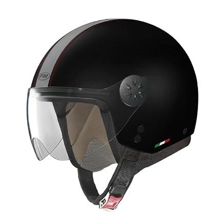 Fm rS21 rS21110L casque jet avec visière (noir)