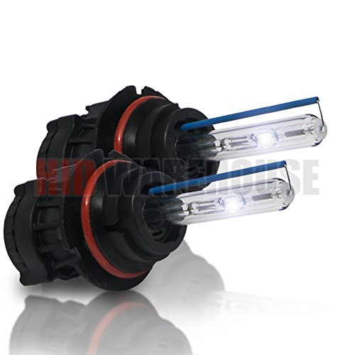 HID-Warehouse HID Xenon Replacement Bulbs - Bi-Xenon 9007 6000K - Light Blue (1 Pair) - 2 Year Warranty (Xenon Lights For Car 9007 compare prices)
