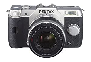 Pentax 12161 Q10 12MP Compact Interchangeable Lens Camera with Pentax-02 Standard Zoom Lens, 27.5mm to 83mm (Silver)