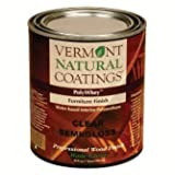 Vermont Natural Coatings Poly Whey Furniture Finish, Clear Semi-Gloss, 1 Quart