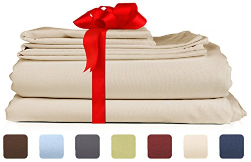 Queen Size Sheet Set - 6 Piece Set - Hotel Luxury Bed Sheets - Extra Soft - Deep Pockets - Easy Fit - Breathable & Cooling Sheets - Wrinkle Free - Comfy - Tan - Beige Bed Sheets - Queens Sheets - 6 PC (Extra Deep Sheets compare prices)