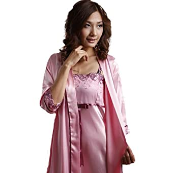eros pyjama en soie pyjama en satin robe de chambre taille 40 v tements et accessoires. Black Bedroom Furniture Sets. Home Design Ideas