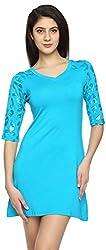 Texco Garments Women's A-Line Dress (10, Blue, L)