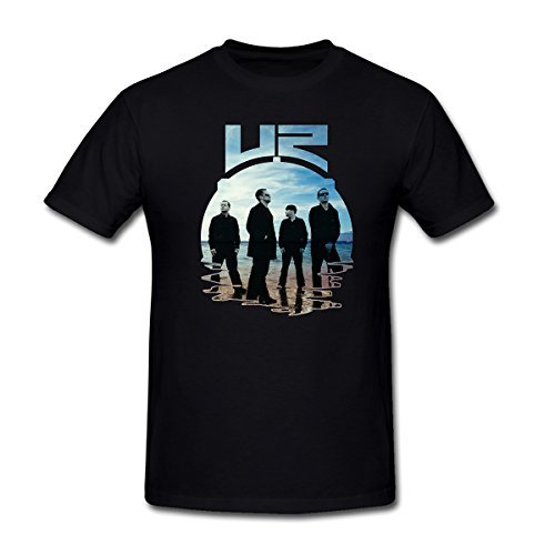 Men's By the Sea U2 Band T-Shirt Black