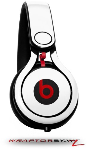 Solids Collection White Decal Style Skin (Fits Genuine Beats Mixr Headphones - Headphones Not Included)