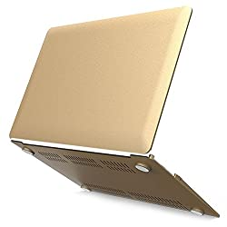 iBenzer - 2 in 1 Soft-Touch Plastic Hard Case Cover & Keyboard Cover for 13 inches Macbook Air 13.3'' (Model: A1369 / A1466), Gold MMA13GD+1