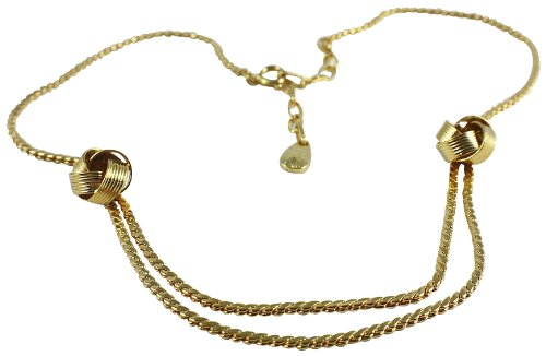 Global Stock Surplus 18k Gold Plated/flat Roped Chain/woven Band Pendant/214/made UK