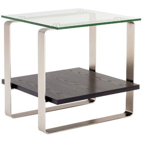 Cheap BDI Stream Collection 1510G Square End Table – Espresso w/ Glass Top (B004WJTQM8)