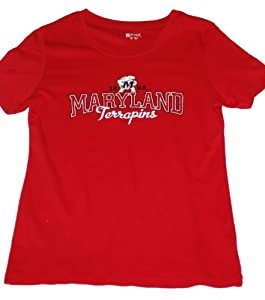 Maryland Terrapins Gear for Sports Ladies T-Shirt Red (M) by Gear for Sports