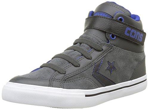 Converse Pro Blaze Strap - Sneakers Alte infantile, grigio (gris/noir/bleu), 38