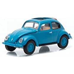 VW beetle, blue, 1946, Model Car, Ready-made, Greenlight 1:64