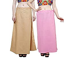 PETTICOATS FOR WOMENS COMBO OF 2 BY JUST CLIKK