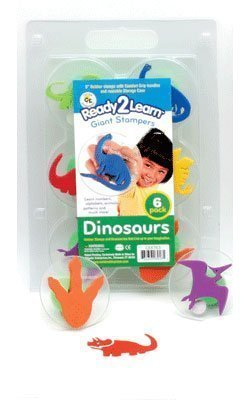 Stamps - Center Enterprises Giant Stampers Dinosaurs Set - 3 inches - Set of 6 - Assorted Colors