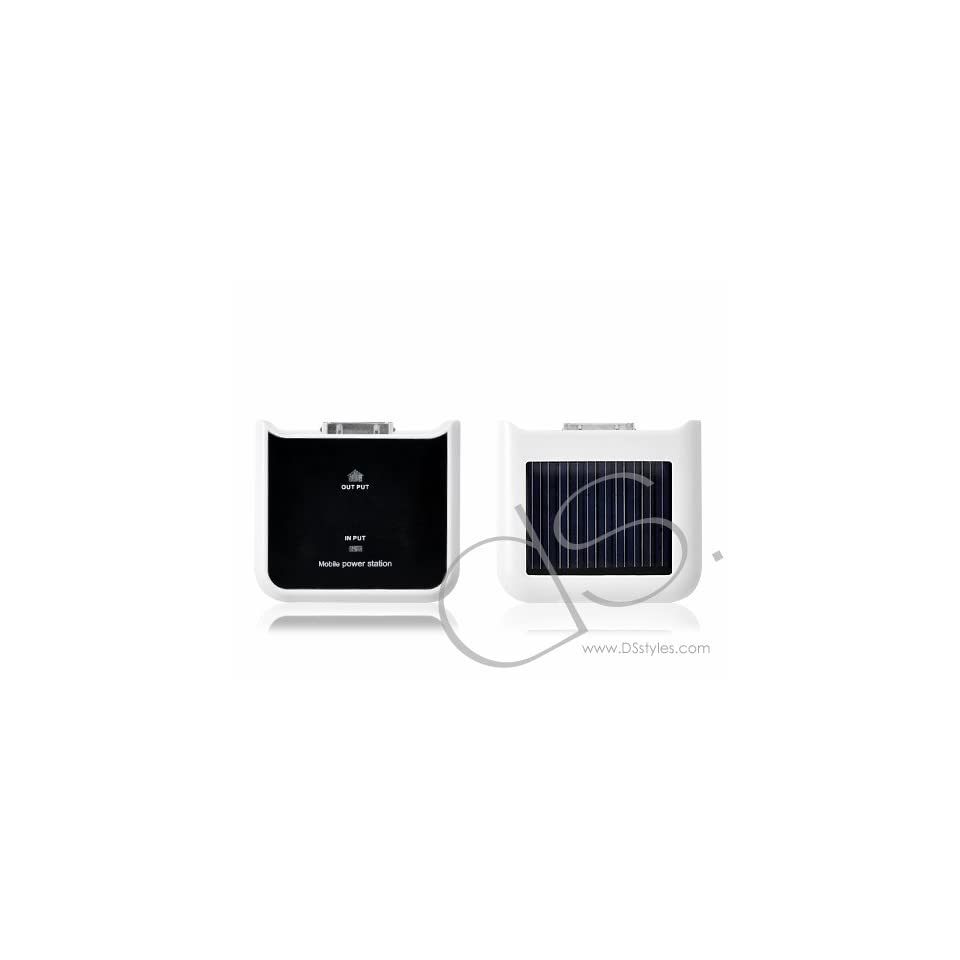 iPhone Solar Battery Portable Power Station   White