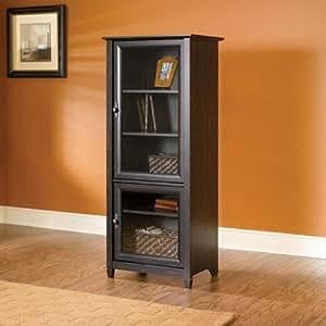Amazon Com Brown Entertainment Storage Cabinet Tower