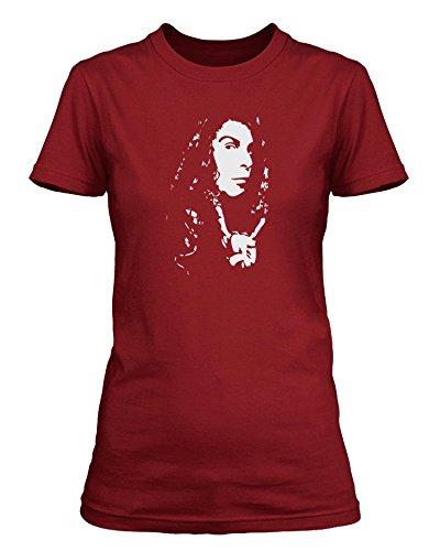 Ronnie James Dio Rainbow Heaven & Hell Black Sabbath-Maglietta da donna Kremlin Red XXL