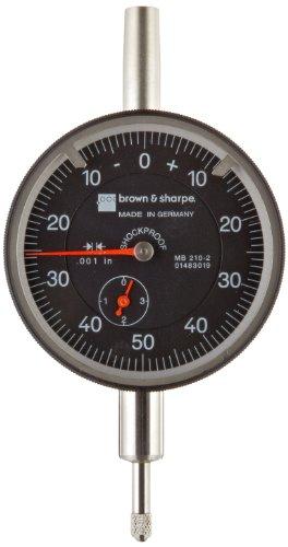 Brown & Sharpe 14.82023 Dial Indicator, 4.0-48 Thread, 0.374