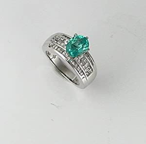 paraiba tourmaline ring 2 0k apetite and 1 1k ttw g s i