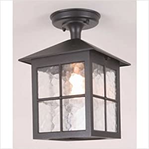 Elstead BL18A BLACK Winchester 1 Light Rigid Tube Porch Lantern Ceiling Light/ Lighting from Elstead Lighting