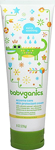 BabyGanics - Moisturizing Eczema Care Skin Protectant Cream Bye Bye Dry Fragrance Free - 8 oz. Value Size - 1