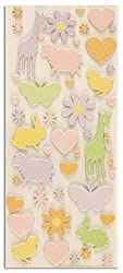 Martha Stewart Crafts Girl Flower And Animal Flocked Chipboard Stickers By The Package
