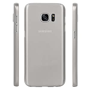 Galaxy S7 Back cover, PP [0.35mm] Ultra-Thin / Slim [ Perfect Fit ] Thinnest Hard Protect Case Back Cover Bumper [ Semi-transparent ] Lightweight for Samsung Galaxy S7 (Grey)