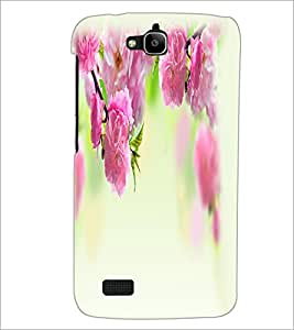 PrintDhaba Flowers D-2208 Back Case Cover for HUAWEI HONOR HOLLY (Multi-Coloured)