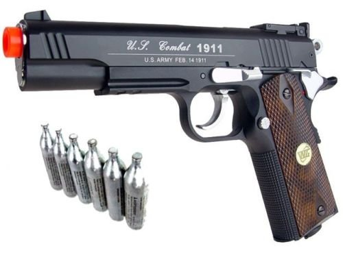 airsoft-co2-metal-pistol-gun-500-fps-wg-1911-special-combat-601-w-free-12g-co2(Airsoft Gun) (Sniper Airsoft Gun 1000 Fps Cheap compare prices)