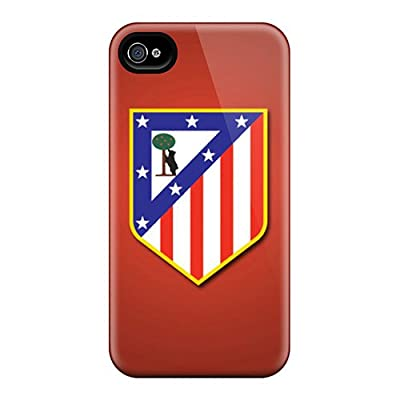 PromParty Iphone 4/4s Hybrid Tpu Case Cover Silicon Bumper Atletico De Madrid
