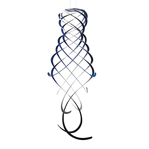 "Blue Hanging Spirals - Hangs Approx. 3 Ft. - Plastic. - 8"" Diam. - 1"