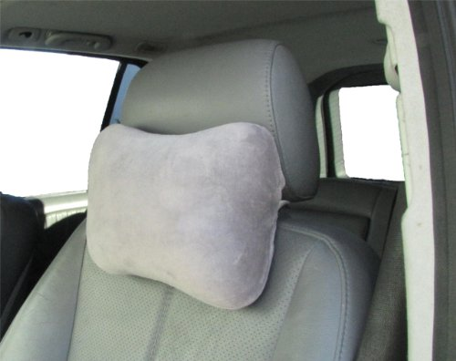 Review Of Dreamsweet Car Seat Headrest Memory Foam Pillow Car Ride Travel Air Flight, D6G