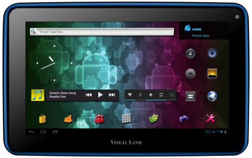Visual Land Prestige 7 Internet Tablet 7-Inch Multi-Touch Capacitive/Android 4.0 Ice Cream Sandwich/8GB/ARM Cortex A8 1.2GHz/512 DDR3 RAM/Camera/1080p HDMI Out (Blue)