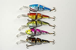 Akuna Pack of Five Wobblin Goblin Series 3.5 inch Shallow Diving Jointed