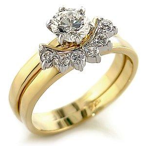 .9ct Brilliant Bridal Wedding Ring Set Gold Plated Cubic Zirconia (7)