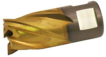"Jancy Slugger High Speed Steel Annular Cutter, Uncoated (Bright) Finish, 1/2"" Annular Shank, 3/4"" Depth"